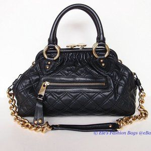 NWT MARC JACOBS Stam mini Quilted Leather Satchel